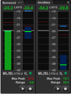 Sentinel loudness meter panels